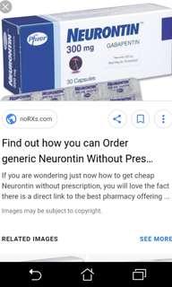 Neurotin gabapentin