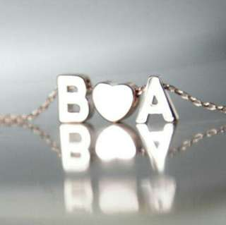 Personalised Alphabet Heart Necklace