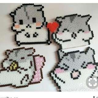 Cute Hamster Hama Bead Designs