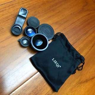 LIEQI鏡頭 手機專用 廣角+魚眼+微距 組合