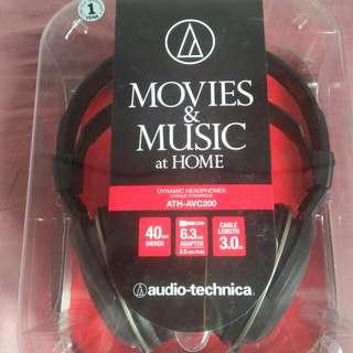 Audio technica headphone  ATH-AVC200