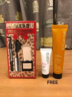 Buxom Eyes on the Wild Side. 3pc eye collection of mascara, eyeliner & eyeshadow. AUTHENTIC. FREE GIFTS : SHU UEMURA 2pc set.