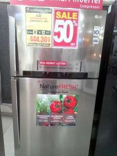 Cicilan kulkas LG 2 pintu tanpa kartu kredit proses cepat 3 menit promo 0%