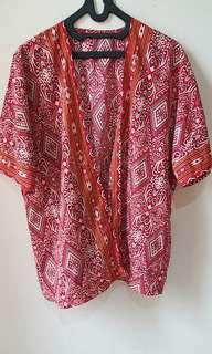 Batik etnik kimono outer