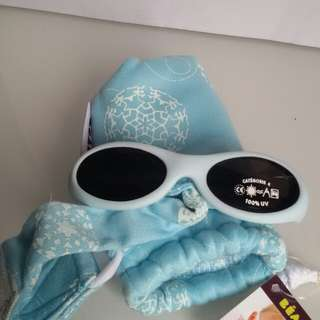 Beaba Banded Sunglass - Baby blue Frost