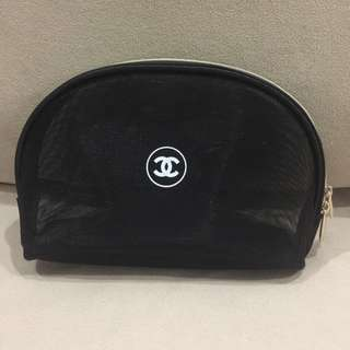 Chanel 2-Pc Set Makeup Pouch
