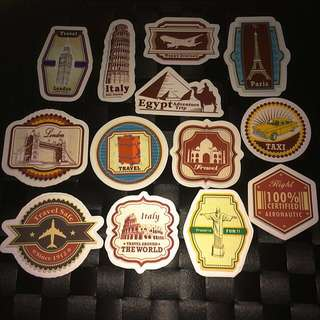 Sticker Waterproof High Quality - Travel theme Stickers Decals For Luggage