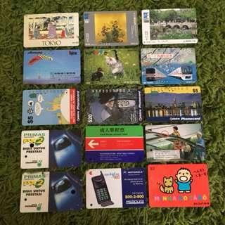 Vintage public transport & telecom card ( jp,Aus, hk,