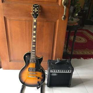 Epiphone Les Paul Custom with Amp