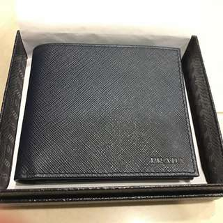 Authentic Prada Navy Blue Wallet