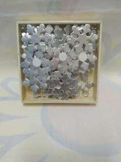 全新雪花❄形裝飾貼 1 盒