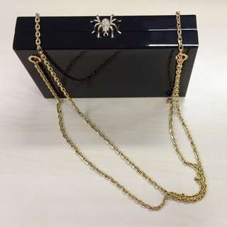 Charlotte Olympia 90%新 Spider buckle clutch box盒仔手袋
