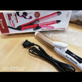 2in1 hair straigher & curler