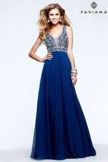 Faviana Prom Dress - Midnight Blue
