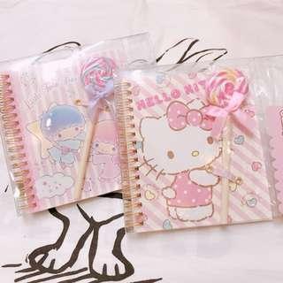 日本** Sanrio candy pen&notebook gift set