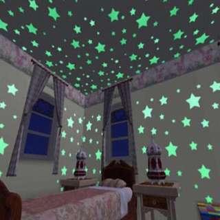 100 pcs Glow Stars # Glow Stickers # Roof Stickers # Stars