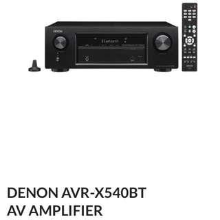 Denon amplifier & Boston speakers
