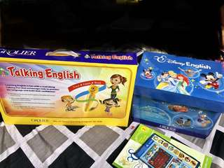 Talking english with 15 cd's and learnig book