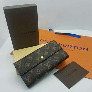 Louis Vuitton Portefeuille Sarah Long Wallet Monogram