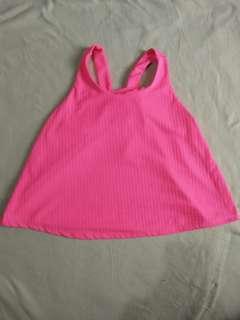 Hot pink sleeveless