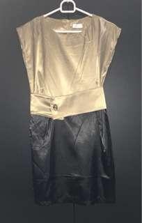 Mini Dress Gold-Black Preloved