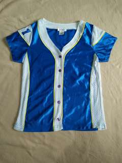 Baseball shirt inspired top