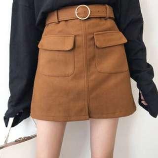 Korean Brown Skirt