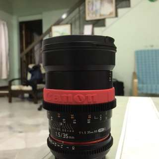 Samyang 35mm T1.5 mark ii cine lens(canon mount)