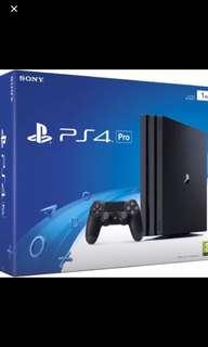 PS4 pro 1TB (黑色)