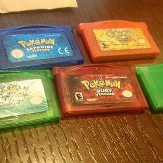 Pokemon gameboy advance collection