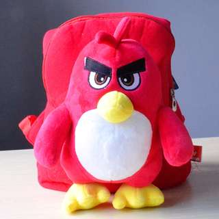 Cutie 3D Cartoon Plush Toy Backpack Outdoor Bag-ANGRYBIRD
