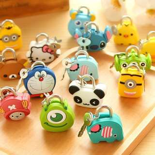 PADLOCK CHARACTER CARTOON HELLO KITTY MINION ETC | GEMBOK KARAKTER LUCU UNIK