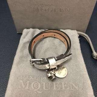 Alexander Muqueen Double-wrap Leather Bracelet