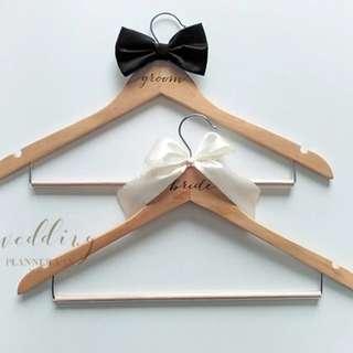 Wooden Hangers wedding