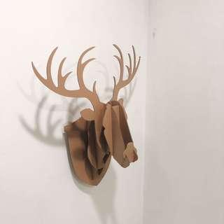 Deer Wall Cardboard Art Decor