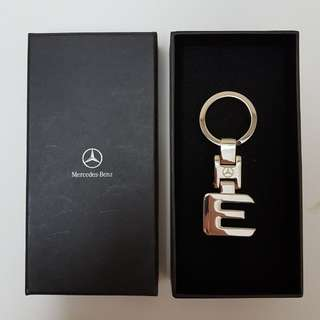 (REDUCED) Original Mercedes-Benz E-Class Emblem Key Chain Key Ring Metal Alloy