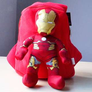 Cutie 3D Cartoon Plush Toy Backpack Outdoor Bag-ironman