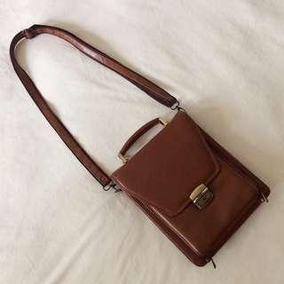 Real Leather Sling Bag