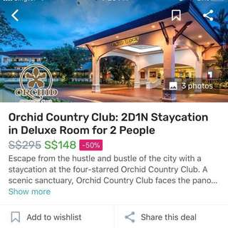Staycation At orchid country club