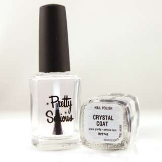 Pretty Serious Crystal Coat Quick Dry Top Coat Nail Polish Lacuer