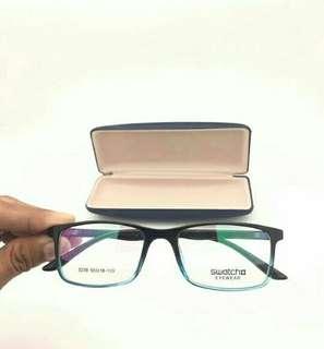Kacamata gaya berlensa minus, silindris/ antiradiasi