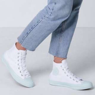 Funky pastel green Converse