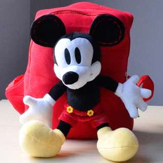 Cutie 3D Cartoon Plush Toy Backpack Outdoor Bag-Mickey