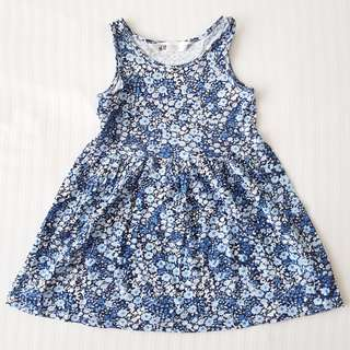 H&M Pretty Blue Floral Summer Dress