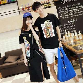 Boy Tee & Girl Dress Couple Set