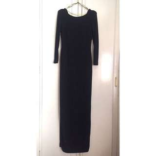 H&M Glittered Long Ball Dress (low back)
