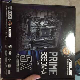 Asus prime b350m-a AMD motherboard