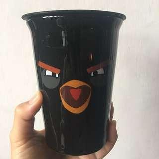 🚚 絕版憤怒鳥陶瓷杯(黑)7-11 #超取再七折
