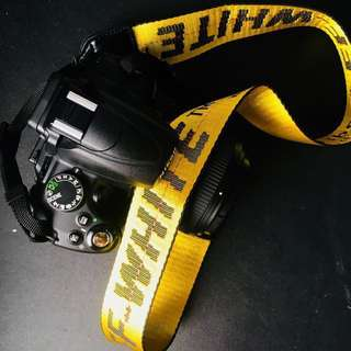 Off White DSLR Strap Ready Stock