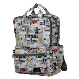 Japan Disney Star Wars Paper Cut Gray Folding Backpack